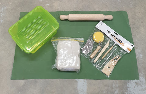 Adult Clay Kit including firing and shipping