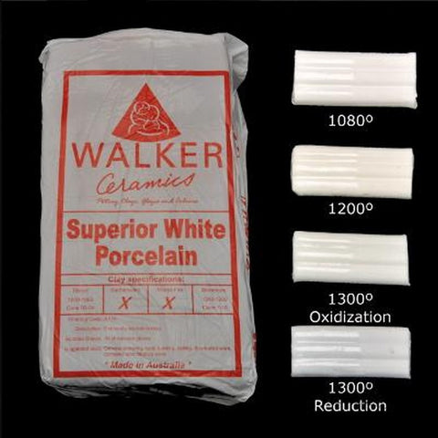 Walker Ceramics Superior White Porcelain