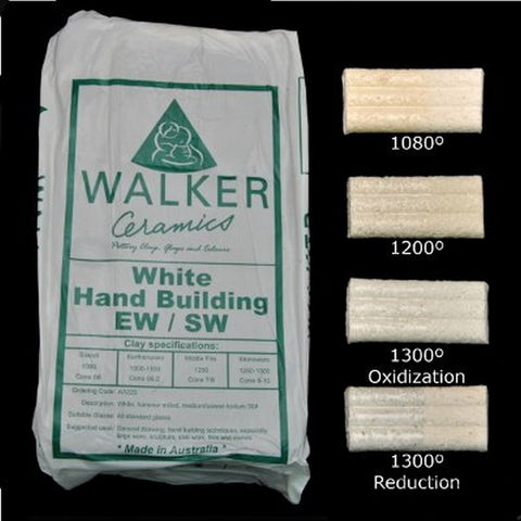 Walker Ceramics White Handbuilding Earthenware/Stoneware