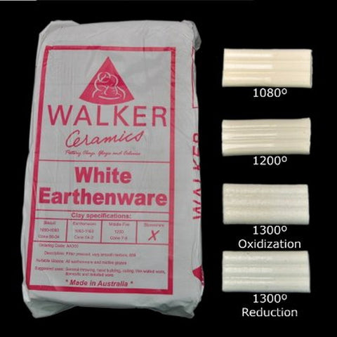 Walker Ceramics White Earthenware Clay
