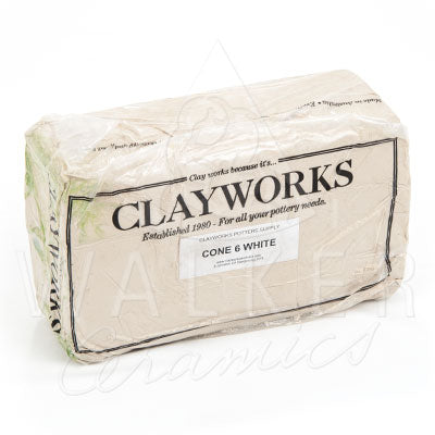 Clayworks Cone 6 White Clay