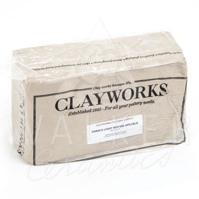 Clayworks Chris' Light Midfire Speckle Clay