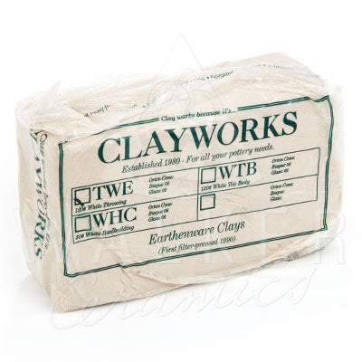 Clayworks White Earthenware Clay