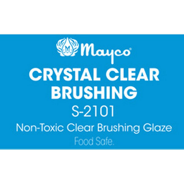 Mayco Clear Glaze Crystal Clear Brushing