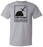 OFFICIAL LOGO SHIRT BLACK ON HEATHER GREY