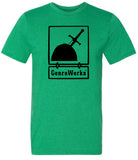 OFFICIAL LOGO SHIRT BLACK ON HEATHER GREEN