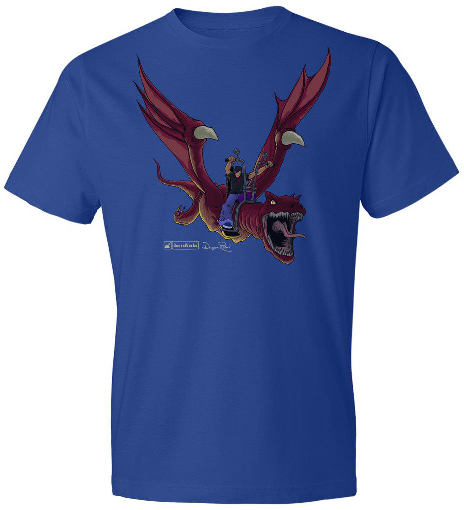 DRAGON RIDER CHARACTER SHIRT on Royal Blue