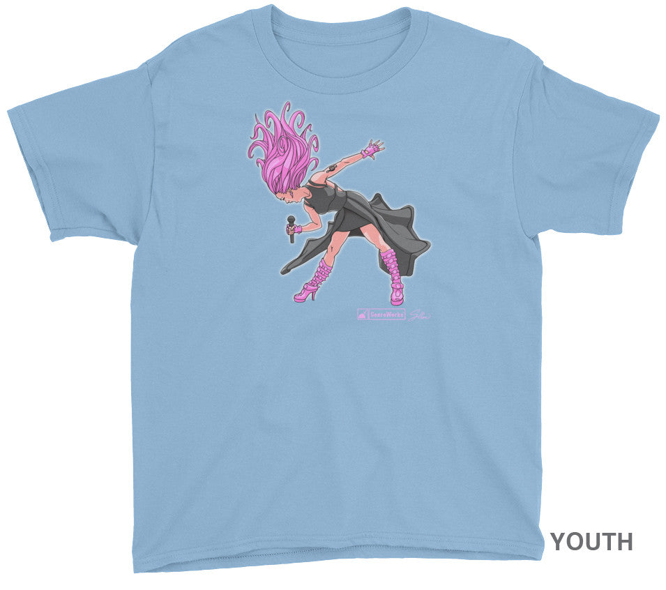 SIREN CHARACTER YOUTH SHIRT on Light Blue