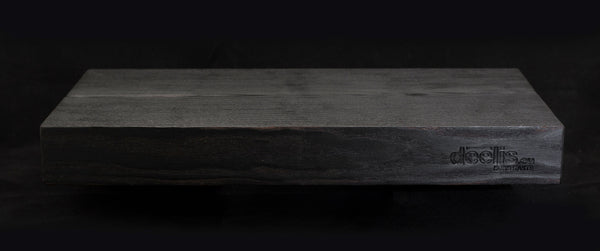 Burned ash tree serving board