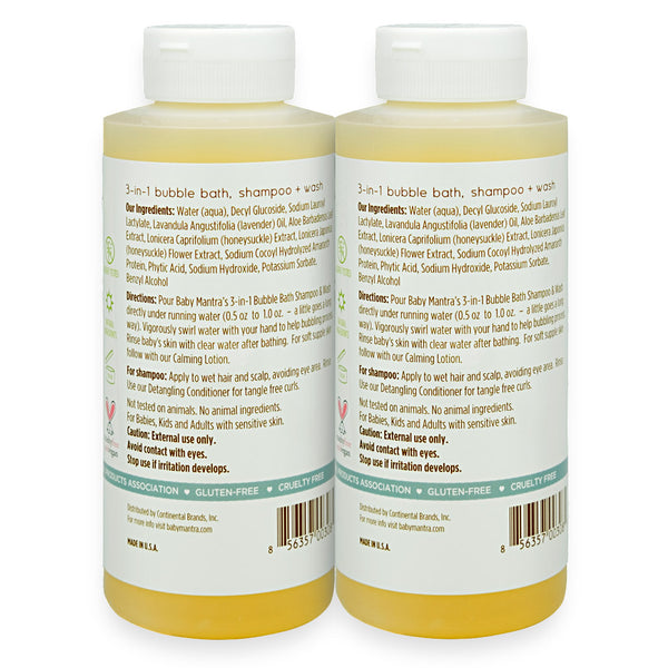 Bubble Bath, Shampoo & Wash 2-Pack