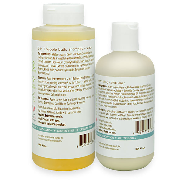 3-in-1 Bubble Bath And Conditioner Combo