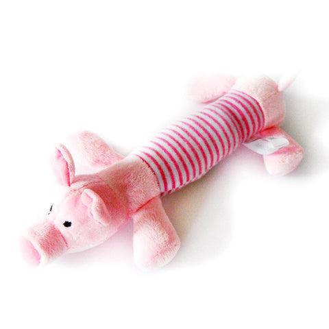 Home & Garden New Dog Toys Funny Pet Puppy Chew Squeaker Squeaky Plush Sound Toy Pink Pig/yellow Duck/gray Elephan Toys 3 Designs Choices