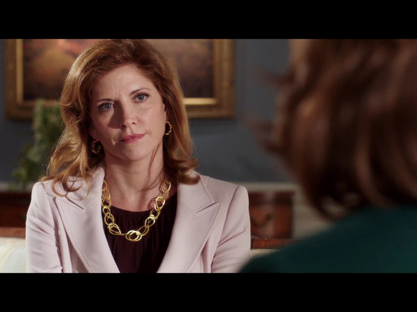 Melinda McGraw wearing the Devi Double Link Necklace by Manjusha Jewels on the TV series, State of Affairs.