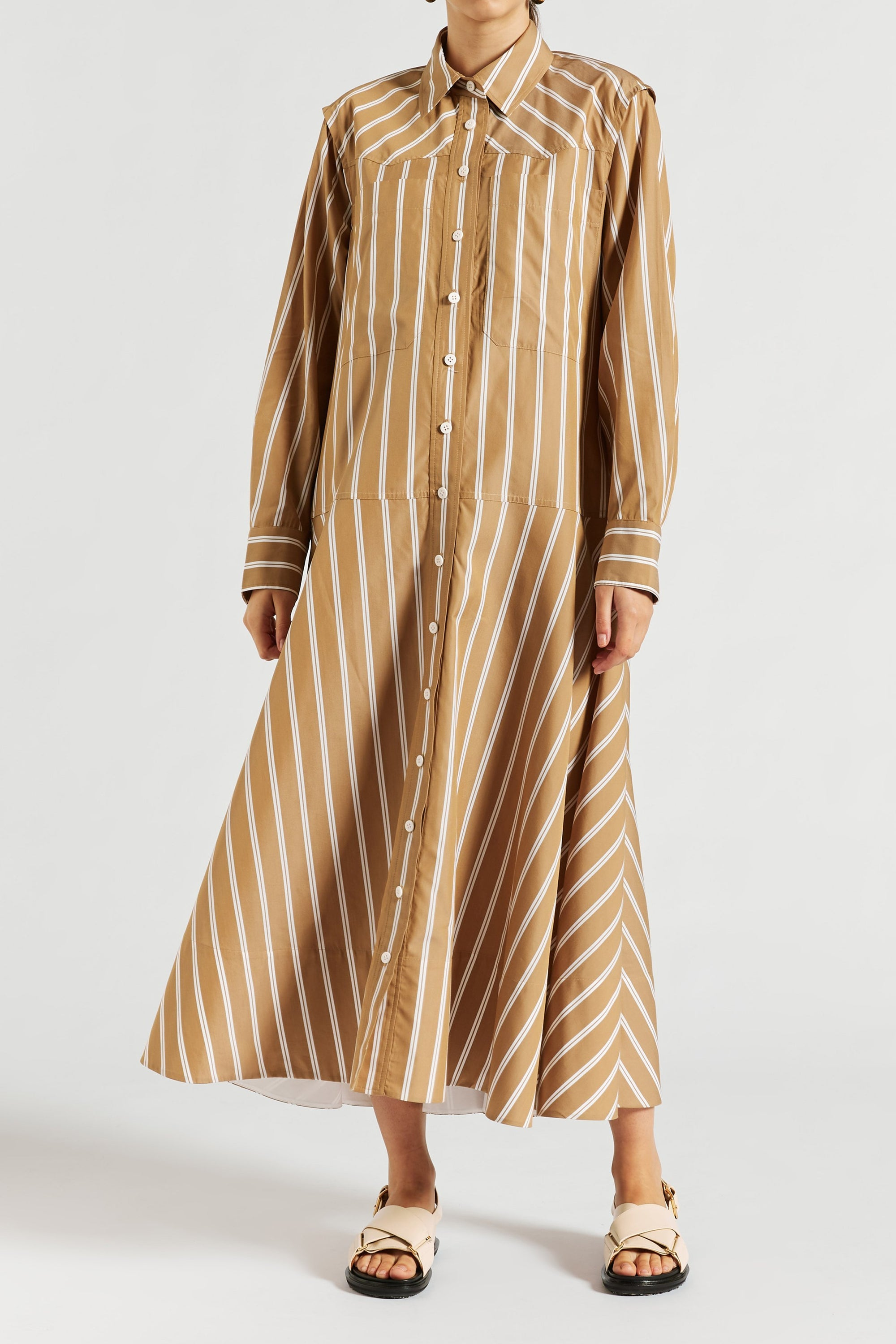 Ida Long Sleeve Shirtdress
