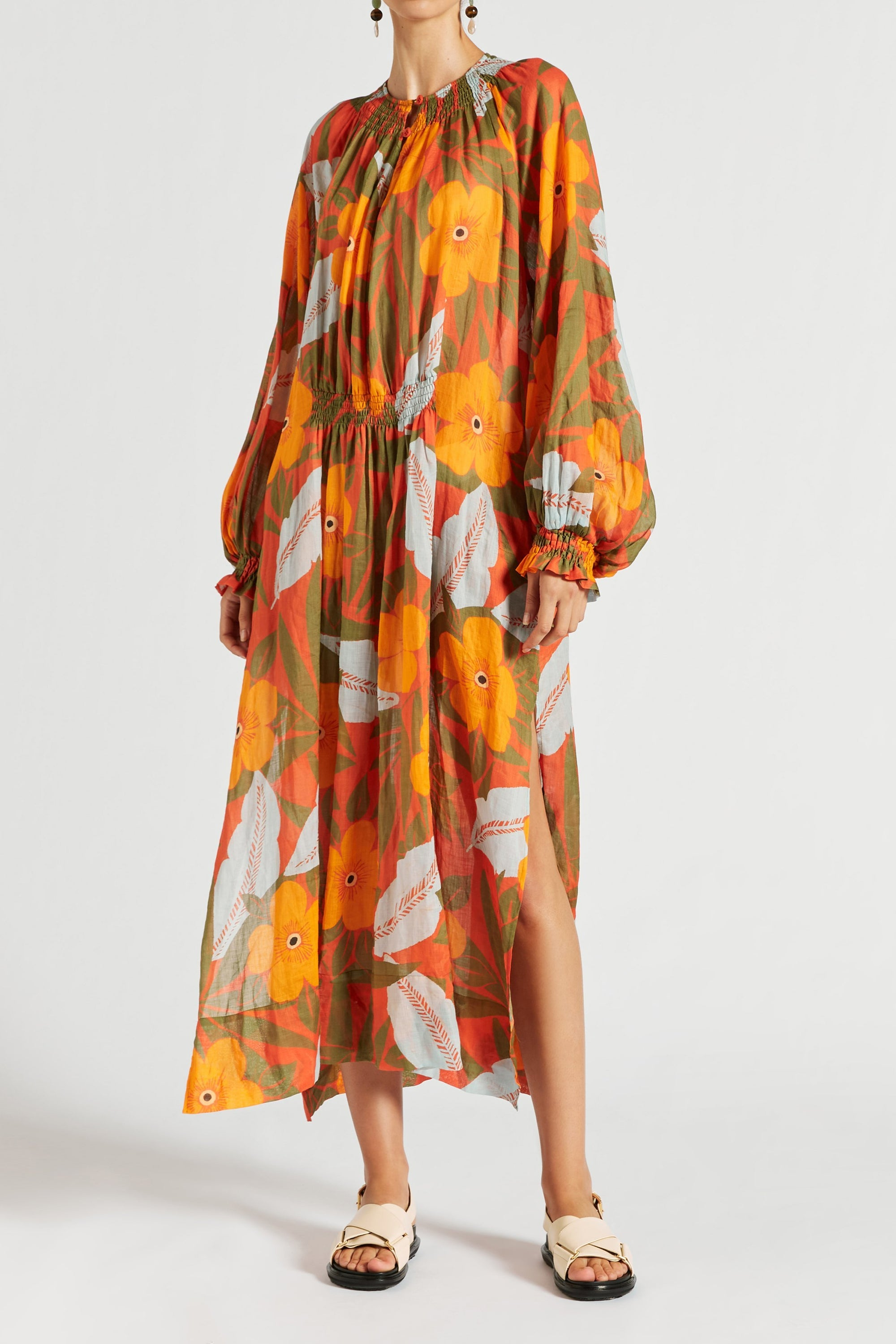 Oleander Tiered Maxi Dress