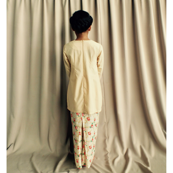 Anis Modern Kurung for Girls in Fawn