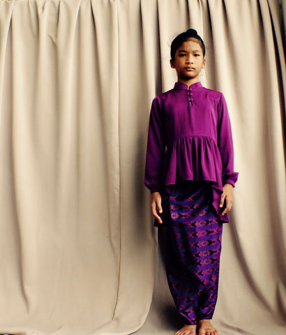 Kasturi Peplum for Girls in Royal Purple