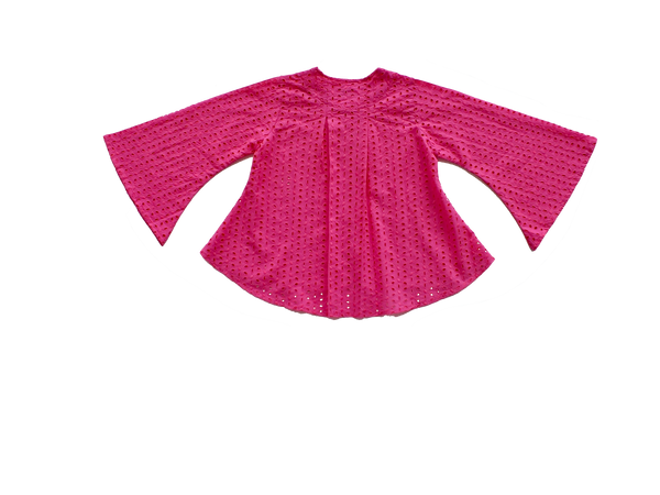Nuri Stylised Kedah for Girls in Fuchsia