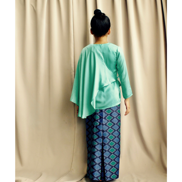 Layang-Layang Set for Girls in Green with Songket