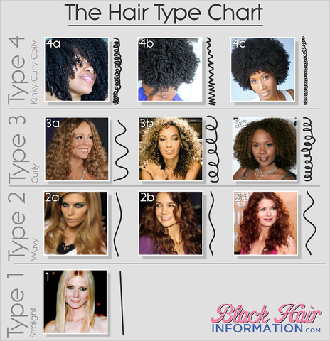 Joshica beauty hair typing chart type 4 hair