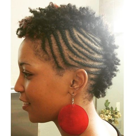 braided fro hawk TWA