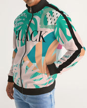 Load image into Gallery viewer, Black Men's Stripe-Sleeve Track Jacket
