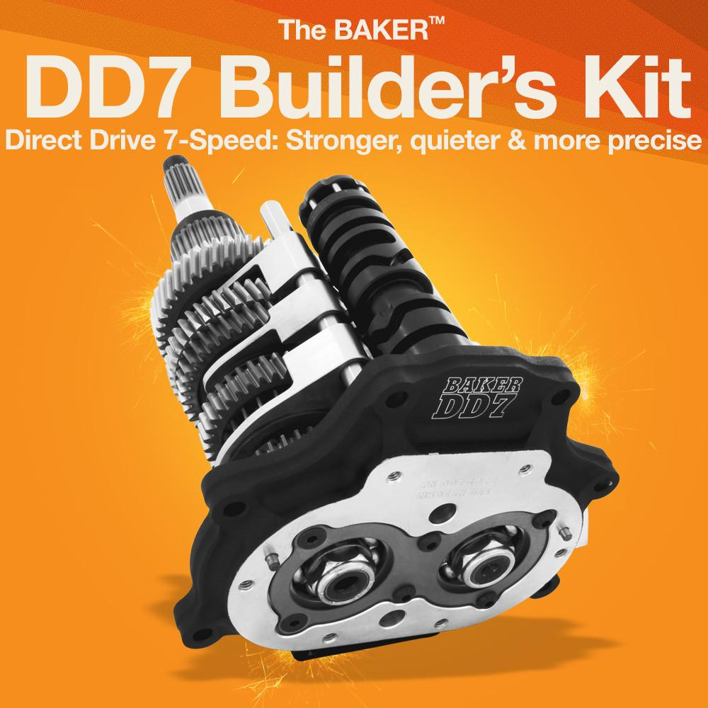 Dd7 Direct Drive 7 Speed Builders Kit Baker Drivetrain Harley Twin Cam Chain Tensioner On Davidson 103 Engine Diagram