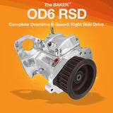 Overdrive 6-Speed (Right Side Drive) Complete RSD Transmission for 1986-2006 Harley-Davidson motorcycles