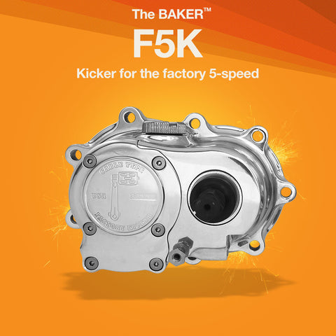 F5K: Factory 5-Speed  Kicker for Harley-Davidson 5-speed motorcycles
