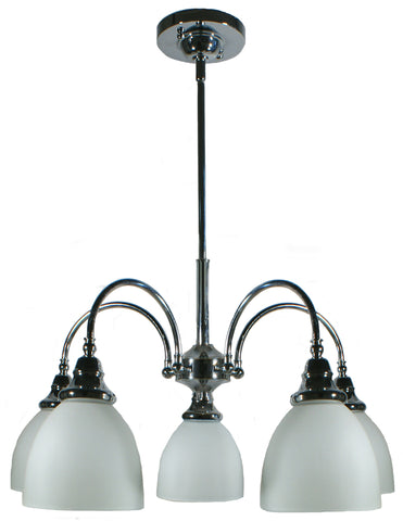 Benson 5LT Down Pendant Chrome