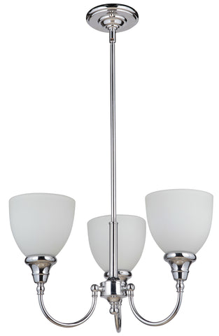 Benson 3LT Up Pendant Chrome