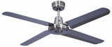 Swift Metal 1400 Ceiling Fan - Brushed Chrome by Mercator from Harvey Norman Lighting - 2