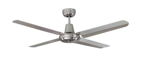 "Swift 316 Stainless Steel Ceiling Fan - 48"" (1219m) blades by Mercator from Harvey Norman Lighting - 1"