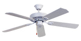 Hayman 1300 Ceiling Fan - White by Mercator from Harvey Norman Lighting - 1