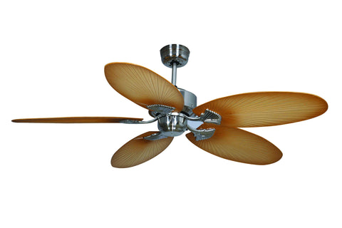 Kewarra 1300 Ceiling Fan - Brushed Chrome by Mercator from Harvey Norman Lighting - 1
