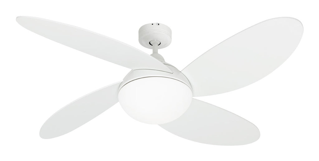 Rosebery 1300 Ceiling Fan With Light White By Mercator From Harvey Norman Lighting 1