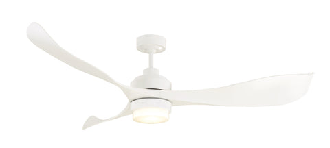 Eagle 1400 DC Ceiling Fan with LED Light - White by Mercator from Harvey Norman Lighting - 1