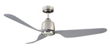 Manly 1300 DC Ceiling Fan With Remote, No Light - Brushed Chrome by Mercator from Harvey Norman Lighting - 2
