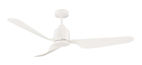 Manly 1300 DC Ceiling Fan With Remote, No Light - White by Mercator from Harvey Norman Lighting - 1
