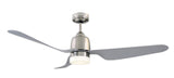 Manly 1300 DC Ceiling Fan with LED Light - Brushed Chrome by Mercator from Harvey Norman Lighting - 2