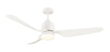 Manly 1300 DC Ceiling Fan with LED Light - White by Mercator from Harvey Norman Lighting - 1