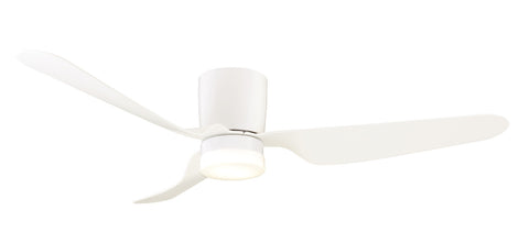City 1300 DC Ceiling Fan with LED Light - White by Mercator from Harvey Norman Lighting - 1