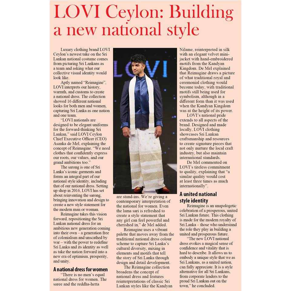 LOVI CEYLON: Building a New National Style