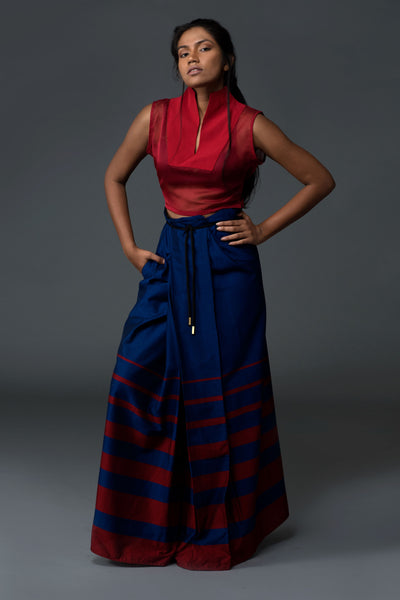 Nautical Sarong With Progressive Lines