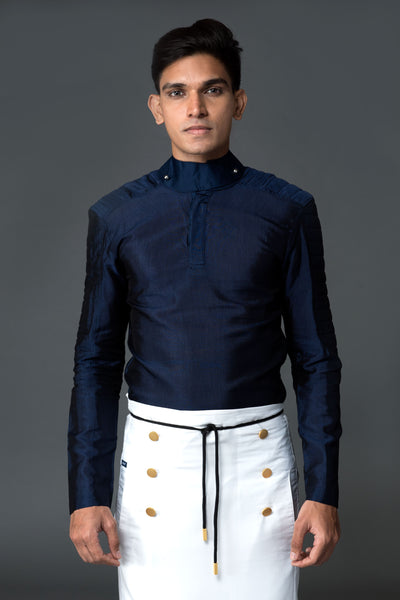 Admiral Shirt With Biker Sleeves