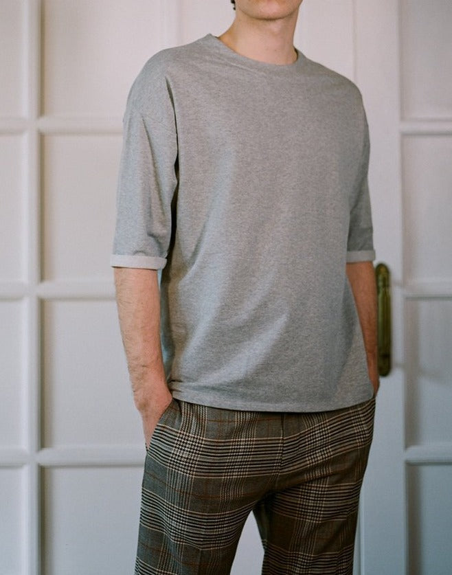 Sweatshirt with Rolled Sleeves - Local Pattern