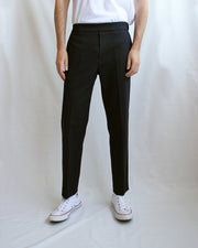 Josep Black Tapered Trousers - Local Pattern