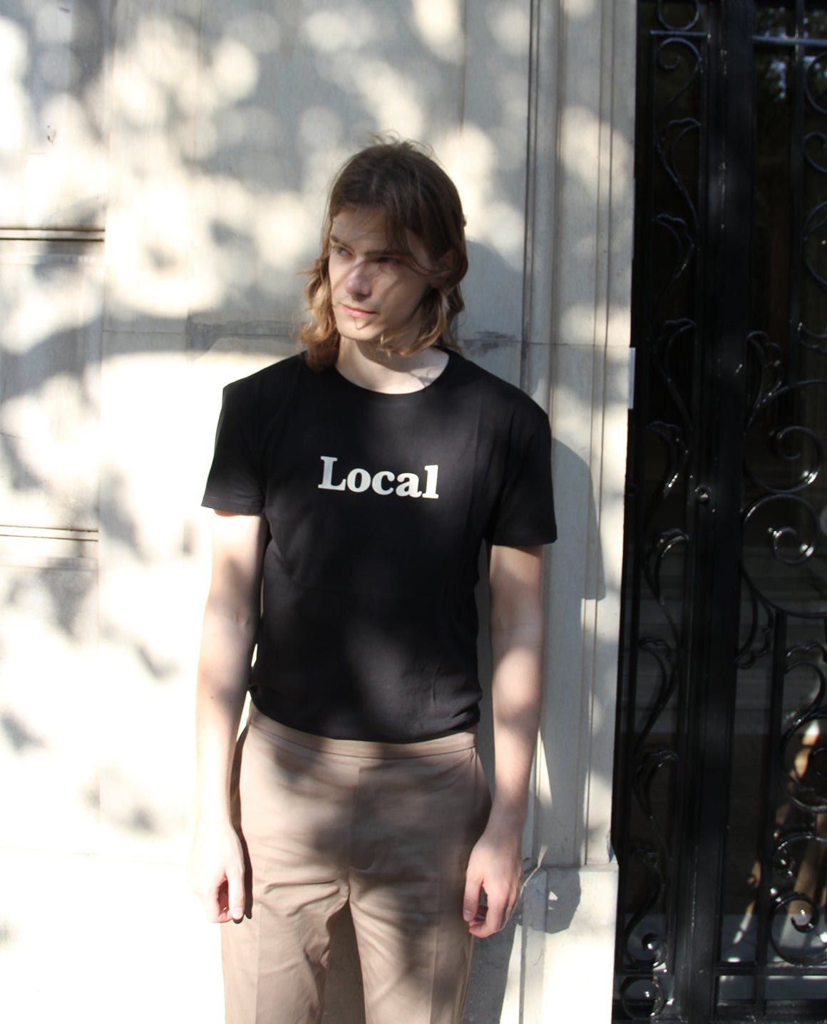 Local Tee Black - Local Pattern