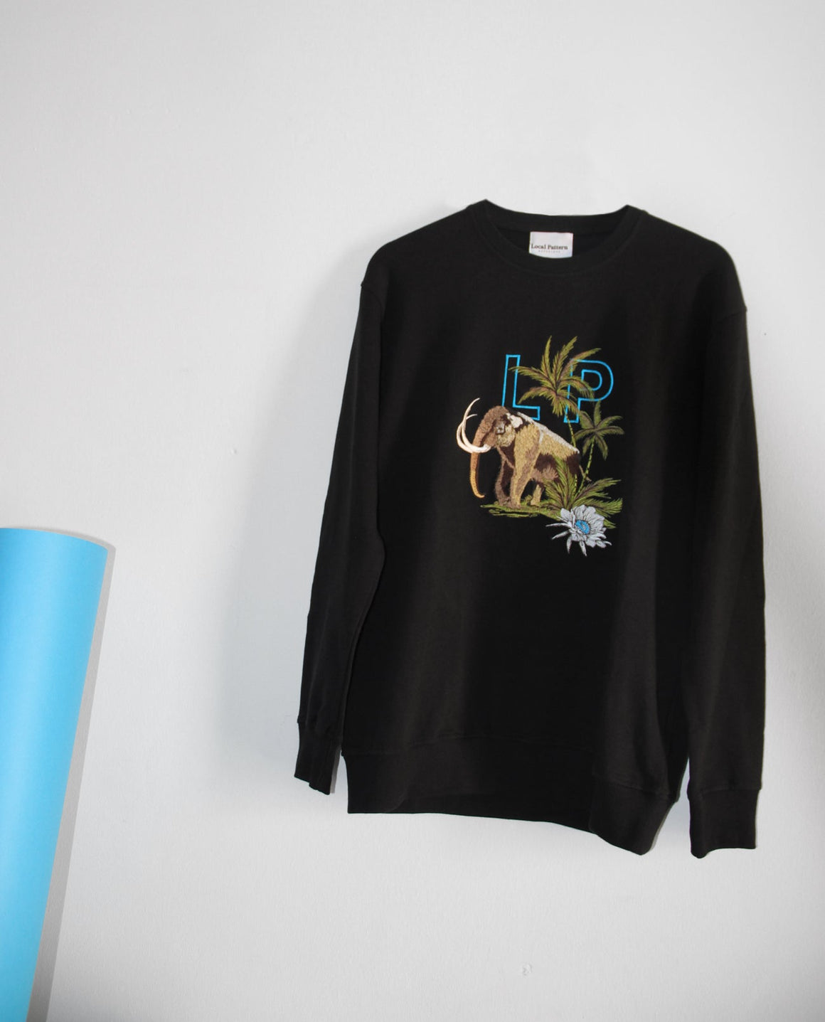 Embroidered Mammoth Sweatshirt - Local Pattern