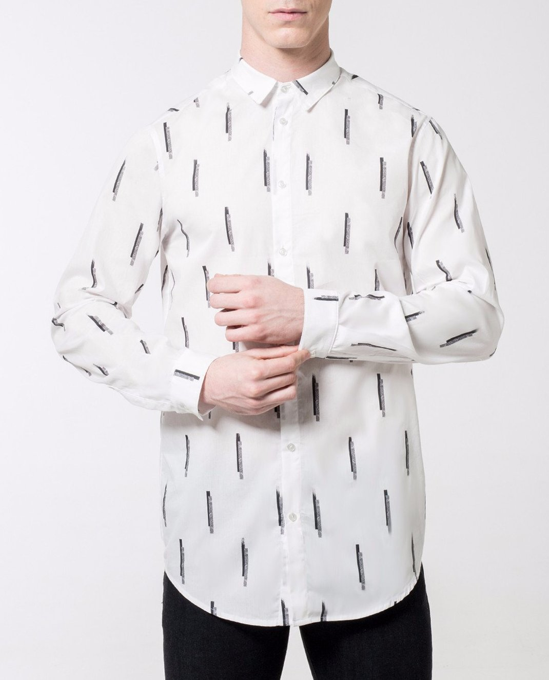 Sticks Print Shirt - Local Pattern  - 5